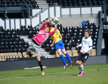 Coventry City reserve goalkeeper, Chris Dunn, in action for the development side.