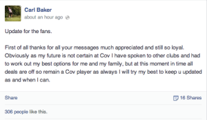 Baker transfer FB update