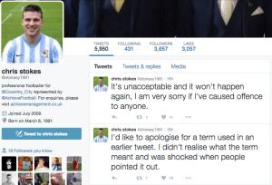 Stokes Apology