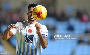 COVENTRY, ENGLAND - NOVEMBER 12:  Coventry City's Jordan Willis during the Sky Bet League One match between Coventry City and Scunthorpe United at Ricoh Arena on November 12, 2016 in Coventry, England. (Photo by Chris Vaughan - CameraSport via Getty Images)